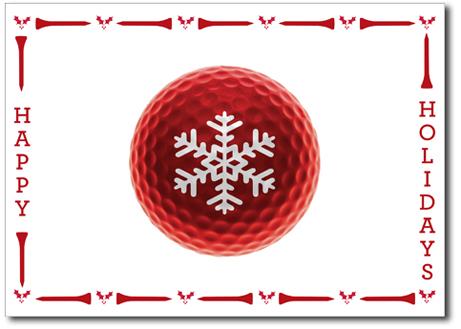 Custom Printed Christmas Cards Holiday Cards Photo Christmas - Golf christmas cards